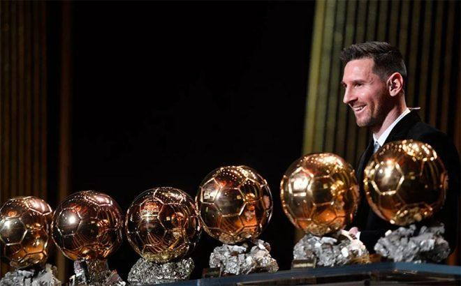 Месси и шесть его Золотых мячей