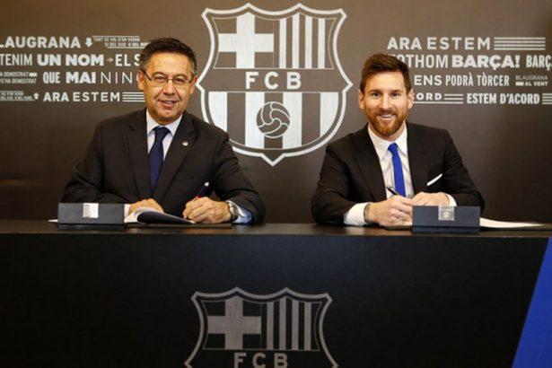 В 2017 году Месси подписал свой восьмой контракт с Барселоной.