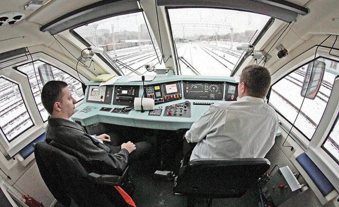 Вид из кабины машиниста совсем другой чем из окна поезда