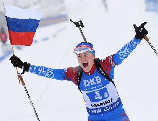Редко последнее время мы видим победы российских биатлонистов