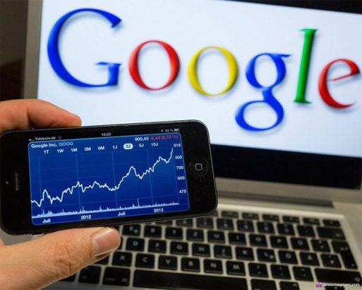 Динамика роста акций компании Google